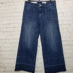 Pilcro and the Letterpress cropped wide leg jeans